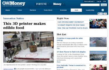 http://money.cnn.com/2011/01/24/technology/3D_food_printer/index.htm