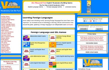 http://www.vocabulary.co.il/foreign-language/
