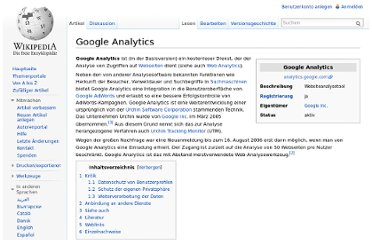 http://de.wikipedia.org/wiki/Google_Analytics