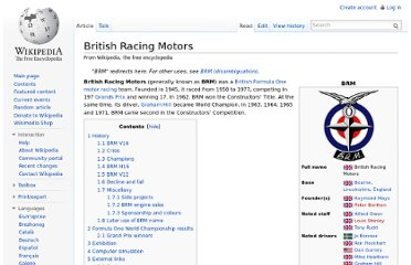 http://en.wikipedia.org/wiki/British_Racing_Motors