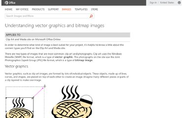 http://office.microsoft.com/en-us/images/understanding-vector-graphics-and-bitmap-images-HA001154903.aspx