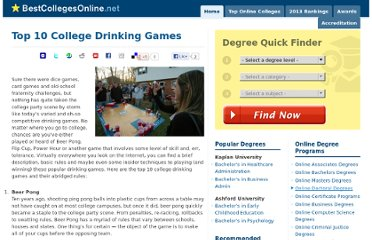 http://www.bestcollegesonline.net/blog/2010/top-10-college-drinking-games/