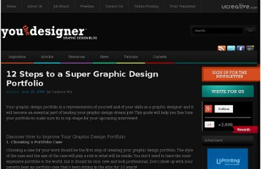 http://www.youthedesigner.com/2008/06/30/12-steps-to-a-super-graphic-design-portfolio/
