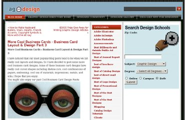 http://www.allgraphicdesign.com/graphicsblog/2008/02/17/more-cool-business-cards-business-card-layout-design-part-3/