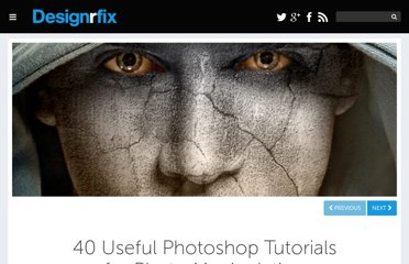 http://designrfix.com/resources/40-useful-photoshop-tutorials-on-photo-manipulation
