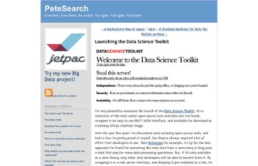 http://petewarden.typepad.com/searchbrowser/2011/03/launching-the-data-science-toolkit.html
