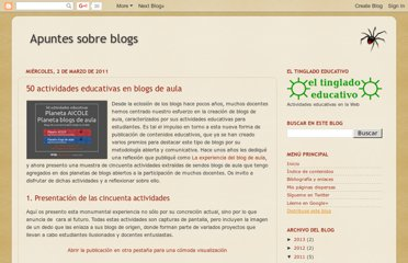 http://avalerofer.blogspot.com/2011/03/50-actividades-educativas-en-blogs-de.html