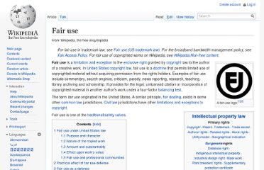 http://en.wikipedia.org/wiki/Fair_use