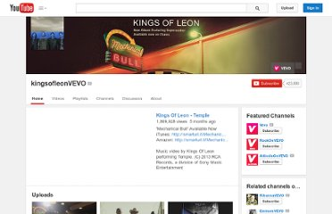 http://www.youtube.com/user/kingsofleonVEVO