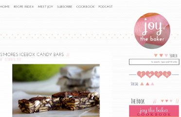 http://www.joythebaker.com/blog/2009/10/smores-icebox-candy-bars/