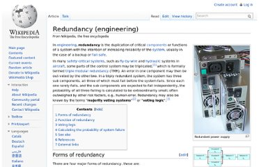 http://en.wikipedia.org/wiki/Redundancy_(engineering)