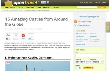 http://opentravel.com/blogs/15-amazing-castles-from-around-the-globe/
