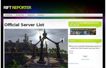 http://rift.mmoreporter.com/2011/02/23/official-server-list/