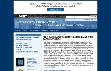http://csrc.nist.gov/groups/SNS/rbac/