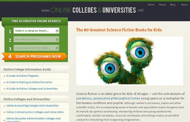 http://www.onlinecollegesanduniversities.net/blog/2011/the-80-greatest-science-fiction-books-for-kids/