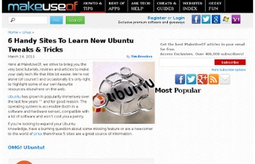 http://www.makeuseof.com/tag/6-handy-sites-learn-ubuntu-tweaks-tricks/