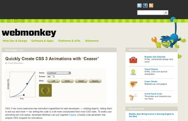 http://www.webmonkey.com/2011/03/quickly-create-css-3-animations-with-ceasar/