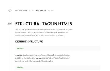 http://orderedlist.com/resources/html-css/structural-tags-in-html5/