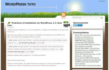 http://wordpress-tuto.fr/probleme-installation-wordpress-chez-free-246