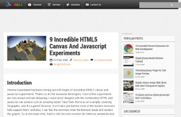 http://www.queness.com/post/6886/9-incredible-html5-canvas-and-javascript-experiments