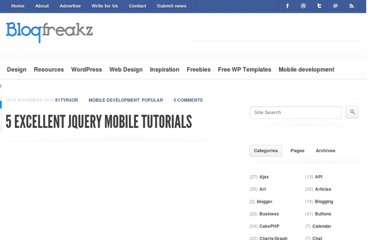 http://blogfreakz.com/mobile-development/jquery-mobile-tutorials/