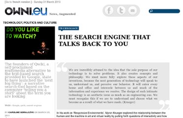 http://owni.eu/2011/03/25/the-search-engine-that-talks-back-to-you/