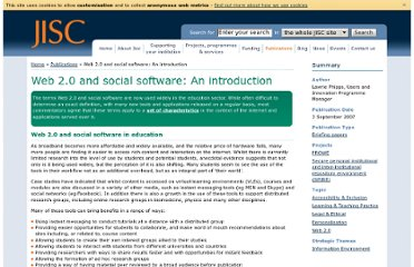 http://www.jisc.ac.uk/publications/briefingpapers/2007/web2socialsoftwarev1.aspx