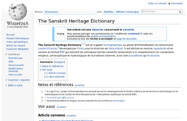http://fr.wikipedia.org/wiki/The_Sanskrit_Heritage_Dictionary