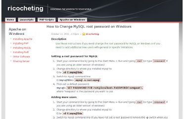 http://www.ricocheting.com/how-to-install-on-windows/mysql-root-password