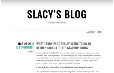 http://slacy.com/blog/2011/03/what-larry-page-really-needs-to-do-to-return-google-to-its-startup-roots/