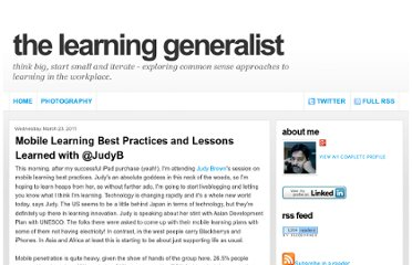 http://www.learninggeneralist.com/2011/03/mobile-learning-best-practices-and.html