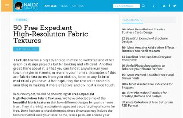 http://naldzgraphics.net/freebies/50-free-expedient-high-resolution-fabric-textures/