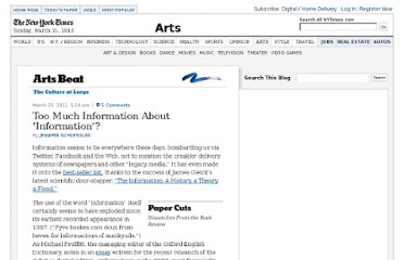 http://artsbeat.blogs.nytimes.com/2011/03/23/too-much-information-about-information/