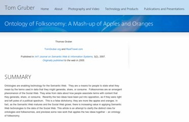 http://tomgruber.org/writing/ontology-of-folksonomy.htm