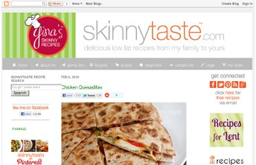 http://www.skinnytaste.com/2010/02/chicken-quesadillas.html#more
