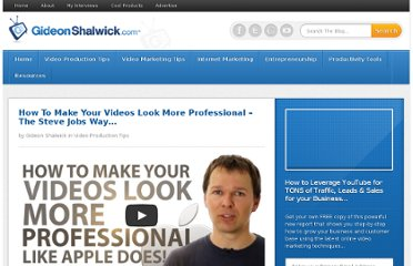http://gideonshalwick.com/how-to-make-your-videos-look-more-professional/