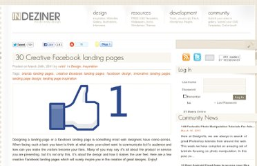 http://indeziner.com/design/30-creative-facebook-landing-pages/