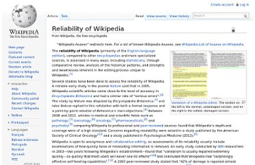 http://en.wikipedia.org/wiki/Reliability_of_Wikipedia