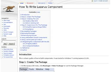 http://wiki.lazarus.freepascal.org/How_To_Write_Lazarus_Component