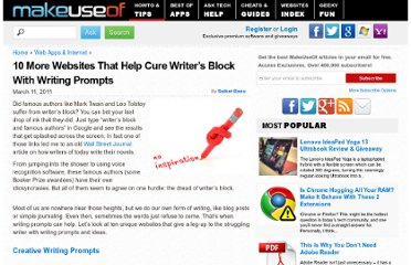 http://www.makeuseof.com/tag/10-websites-cure-writers-block-writing-prompts/