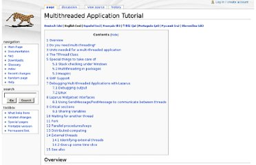 http://wiki.lazarus.freepascal.org/Multithreaded_Application_Tutorial