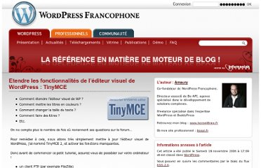 http://www.wordpress-fr.net/2006/11/18/etendre-lditeur-visuel-de-wordpress-tinymce/