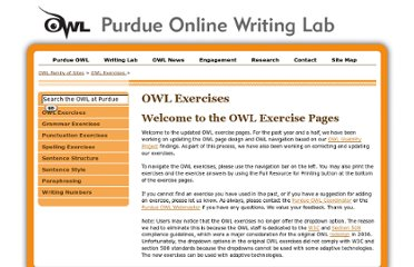 http://owl.english.purdue.edu/exercises/