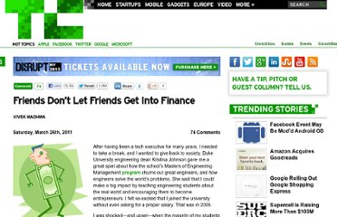 http://techcrunch.com/2011/03/26/friends-don%e2%80%99t-let-friends-get-into-finance/