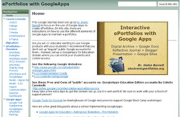 http://sites.google.com/site/eportfolioapps/Home