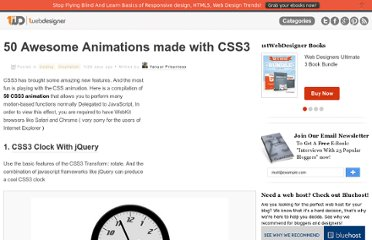 http://www.1stwebdesigner.com/css/50-awesome-css3-animations/