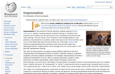 http://en.wikipedia.org/wiki/Improvisation