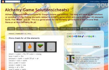 http://alchemygamecheats.blogspot.com/2011/02/more-cheats-for-all-elements.html