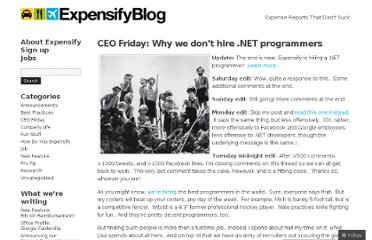 http://blog.expensify.com/2011/03/25/ceo-friday-why-we-dont-hire-net-programmers/