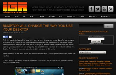 http://www.indiegamereviewer.com/bumptop-will-change-the-way-you-use-your-desktop/